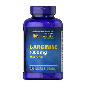 Л-Аргінін Puritan's Pride L-Arginine 1000 mg (100 капсул) пуританс прайд