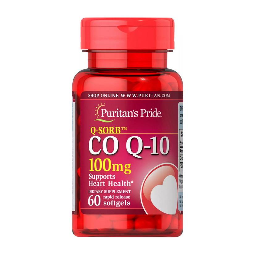Коэнзим Q10 Puritan's Pride CO Q-10 100 mg (60 капс) пуританс прайд