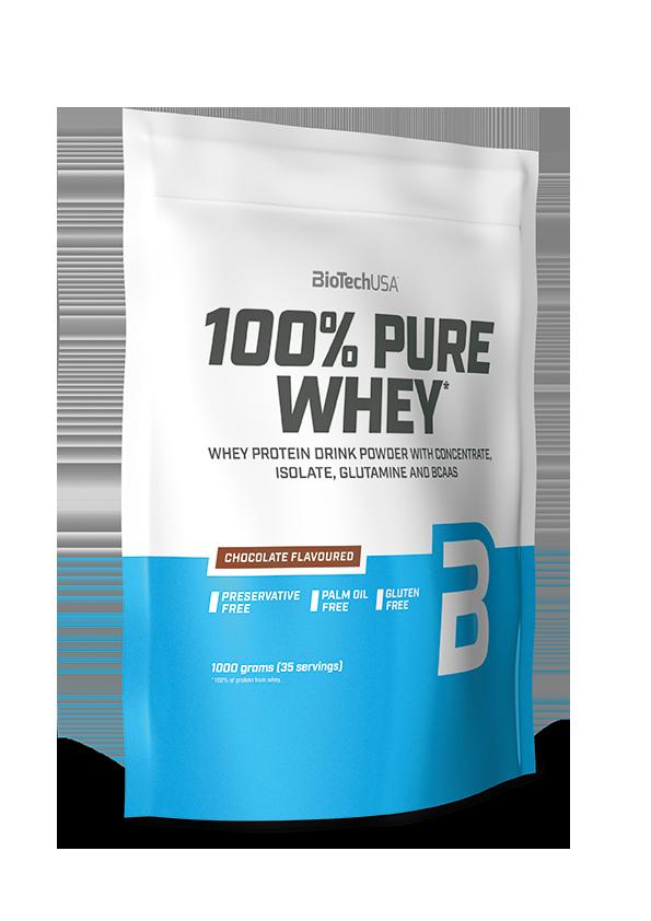 Сывороточный протеин концентрат BioTech 100% Pure Whey (1000 г) биотеч пур вей hazelnut