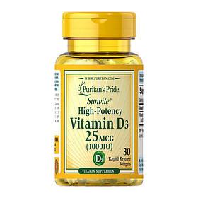 Витамин д3 Puritan's PrideVitamin D3 1000 IU(30 капс) пуританс прайд