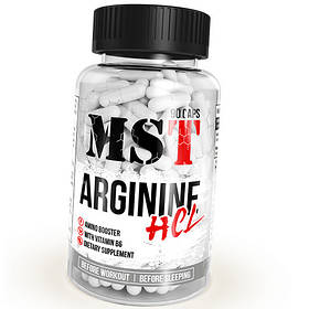 Л-Аргінін MST Arginine HCL (90 капсул) гідрохлорид мпс