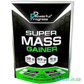 Гейнер для набора массы Powerful Progress Super Mass Gainer (1 кг) гейнер поверфул прогресс strawberry