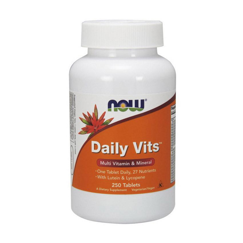 Комплекс вітамінів Now Foods Daily Vits (250 таб) нау фудс дейлі віт
