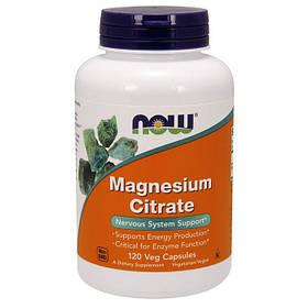 Магній Now Foods Magnesium Citrate (120 кап) нау фудс