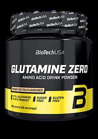 Глютамін BioTech Glutamine Zero (300 г) биотеч зеро peach ice tea