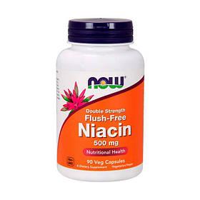 Ніацин Now Foods Flush-Free Niacin 500 мг Double Strength (90 капс) нау фудс