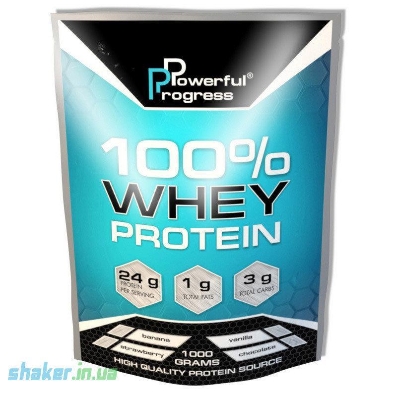 Сывороточный протеин концентрат Powerful Progress 100% Whey Protein (1 кг) поверфул прогресс вей cappuccino