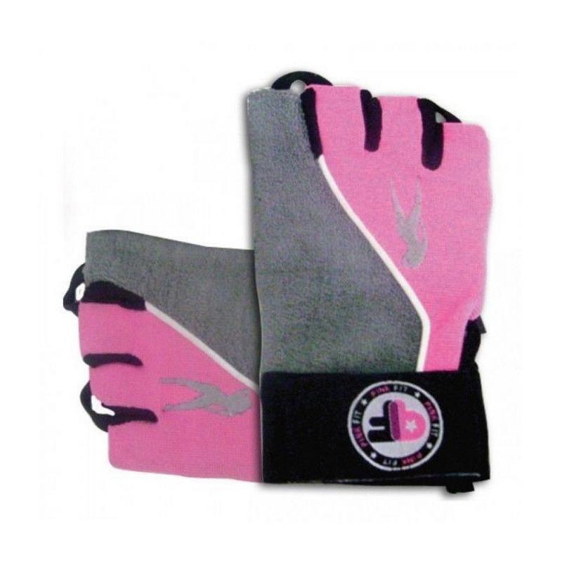 Рукавички в зал BioTech Pink Fit Gloves (grey-pink)