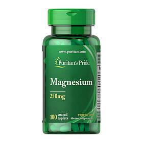 Магній Puritan's Pride Magnesium 250 mg (100 таб) пуританс прайд