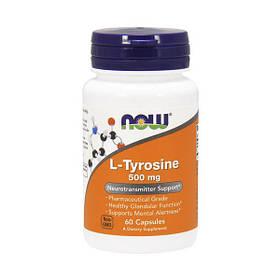 Л-Тирозин Now Foods L-Амінокислоти 500 mg (60 капс) нау фудс