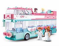 Конструктор Sluban M38 - B 0769 Весільний автобус 379 деталей, фото 1