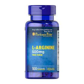 Л-Аргінін Puritan's Pride L-Arginine 500 mg (100 капсул) пуританс прайд