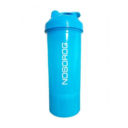 Шейкер спортивный Nosorog Smart Shake Neon голубой 350 мл