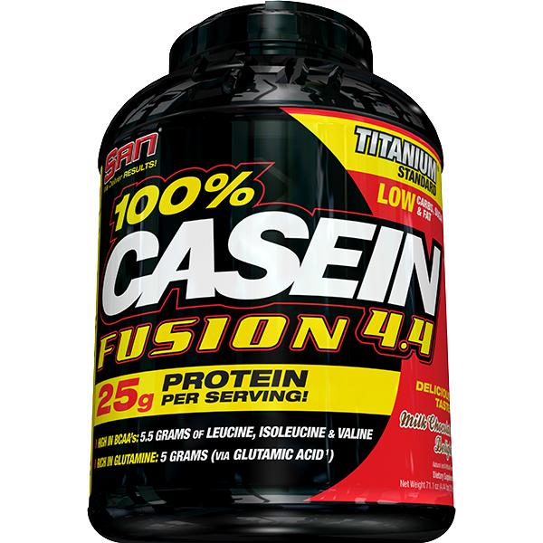 Казеин SAN 100% Casein Fusion (1,8 кг) сан молочный шоколад