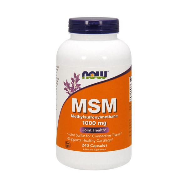 Метилсульфонилметан МСМ Now Foods MSM 1000 mg (240 капс) нау фудс