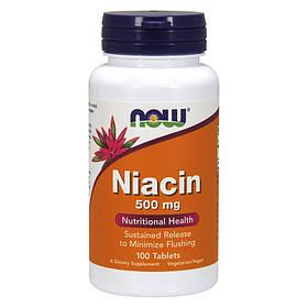 Ніацин Now Foods Niacin 500 mg (100 таб) нау фудс
