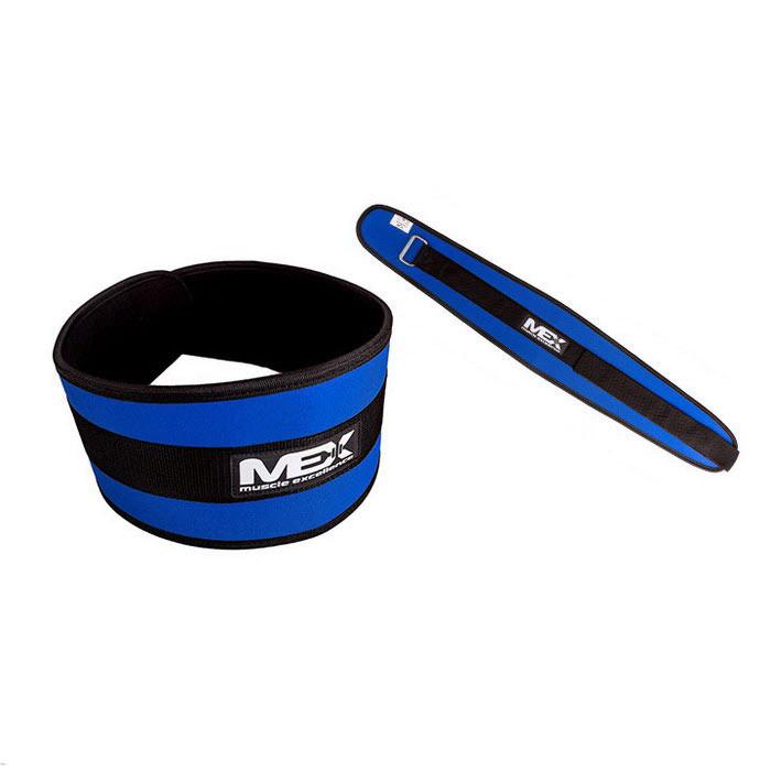 Страховочный пояс для фитнеса MEX Nutrition Fit-N Wide Belt Blue мекс нутришн фит-н вайд белт (L размер)