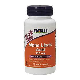 Альфа-ліпоєва кислота Now Foods Alpha Lipoic Acid 100 mg (60 капсул) нау фудс