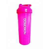 Шейкер спортивный Nosorog Smart Shake Neon розовый 350 мл