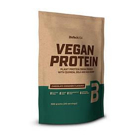 Рослинний протеїн BioTech Vegan Protein (500 г) биотеч веган шоколад-кориця