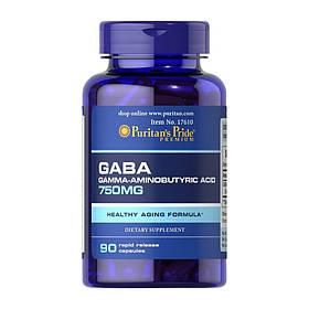 ГАМК Puritan's Pride GABA 750 мг (90 капсул) пуританс прайд гамма-аміномасляна кислота