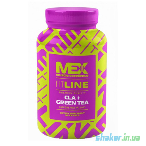 Конъюгированная линолевая кислота MEX Nutrition CLA + Green Tea (90 капс) мекс цла