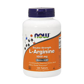 Л-Аргінін Now Foods L-Arginine 1000 mg (120 таблеток) нау фудс