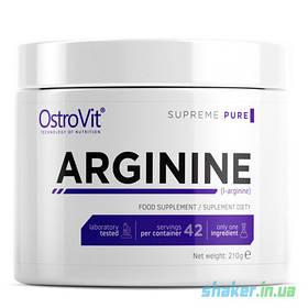 Л-Аргінін OstroVit 100% Arginine (210 г) островит lemon