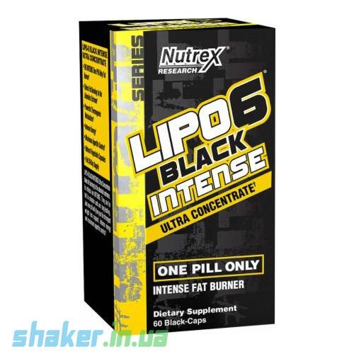 Жиросжигатель Nutrex Lipo 6 black intense Ultra Concentrate (60 капс) нутрекс липо 6