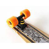 Пенни борд FISH деревянный, бамбуковый, Скейт Penny Board с широкими колесами, пенниборд детский, фото 2