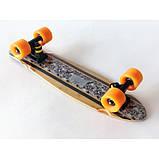 Пенни борд FISH деревянный, бамбуковый, Скейт Penny Board с широкими колесами, пенниборд детский, фото 3
