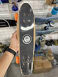 Пенни борд FISH деревянный, бамбуковый, Скейт Penny Board с широкими колесами, пенниборд детский, фото 4
