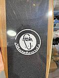 Пенни борд FISH деревянный, бамбуковый, Скейт Penny Board с широкими колесами, пенниборд детский, фото 9