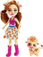 Кукла Enchantimals коровка Кайла и ее друг Курдл Cailey Cow & Curdle