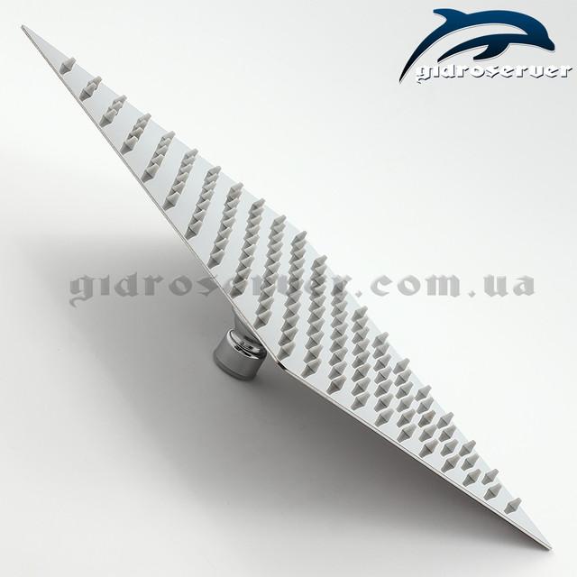 Квадратная лейка верхнего душа для душевой системы скрытого монтажа SSD-01 с размером 250 на 250 мм.
