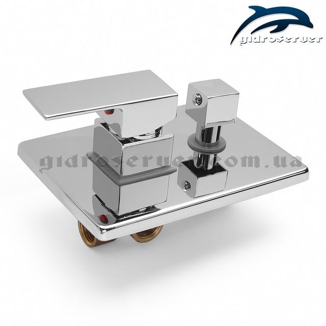 Смеситель скрытого монтажа для душевой системы SSD-01 с переключателем на 2 положения.