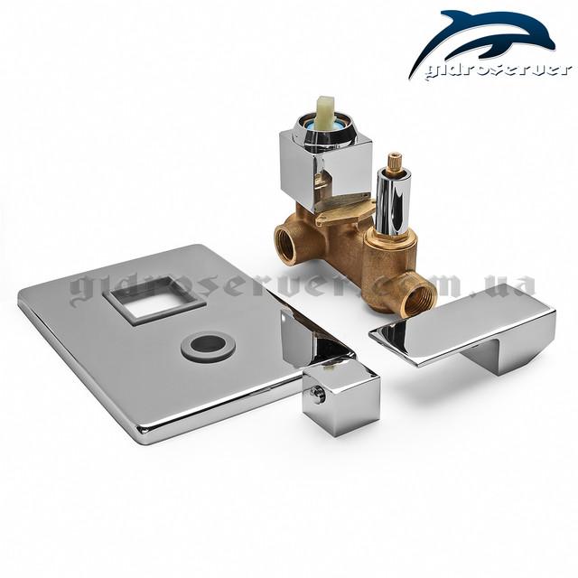 Смеситель джойстикового типа для душевой системы скрытого монтажа SSD-01 латунный.