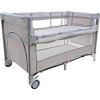 Туристическая кроватка Close To Mommy бежевые Kindereo
