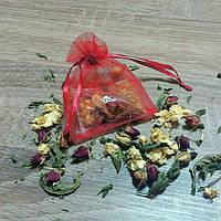 Красная бонбоньерка с ароматным чаем (арт. TEA-5)