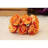 """Цветы """" Камелия """"  оранжевые      60 шт, фото 1"""