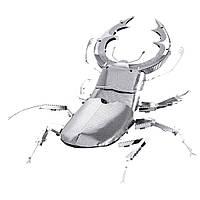 Металлический 3D-пазл (конструктор) Жук-олень, фото 1