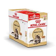 Акция 8+4! Влажный корм Royal Canin Maine Coon Wet для Мейн-кунов блок (12 шт.)
