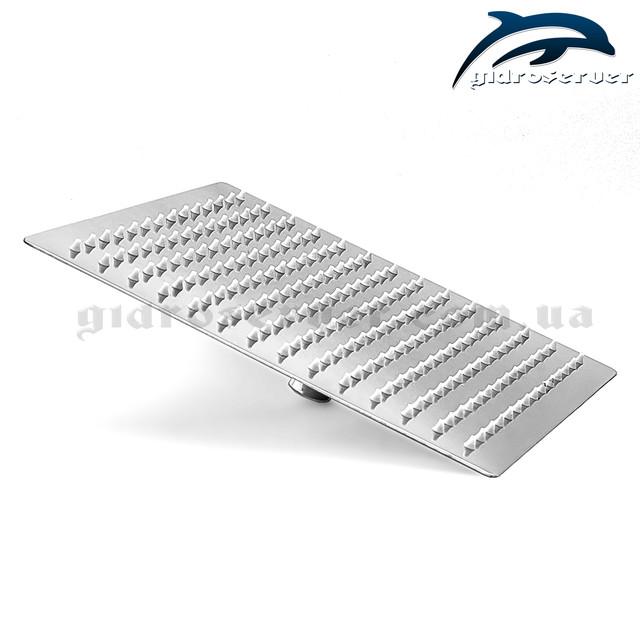 Ультратонка лійка тропічного душу для душової системи прихованого монтажу SSD-05 з розміром 250 на 250 мм.