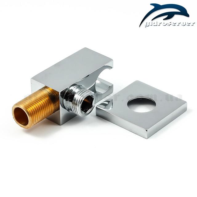 Підключення для лійки ручного душа в душовій системі прихованого монтажу SSD-05 з вбудованим держателем лійки.