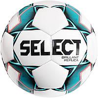 Мяч футбольный SELECT Brillant Replica (317) бел/зел размер 5