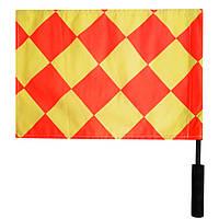 Флажок Лайнсмена Аматорский SWIFT Referee Flag,  2 флага, желт/красн, фото 1