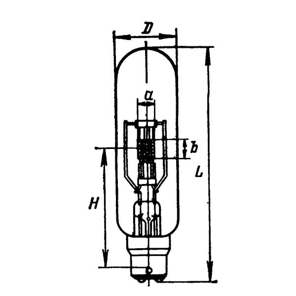 Лампа накаливания кинопроекционная 75v - 375w TUNGSRAM P28s