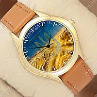 Часы мужские наручные с принтом Украина Колосья и Герб