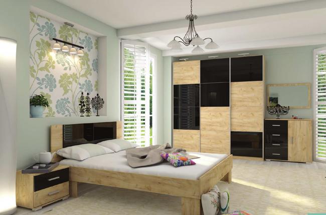 Модульная спальня Миа , шкаф купе Квадро 1800, фото 2