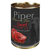 """""""DN Piper Platinum"""" консервы для собак с говядиной и коричневым рисом 400гр., 24шт/уп."""
